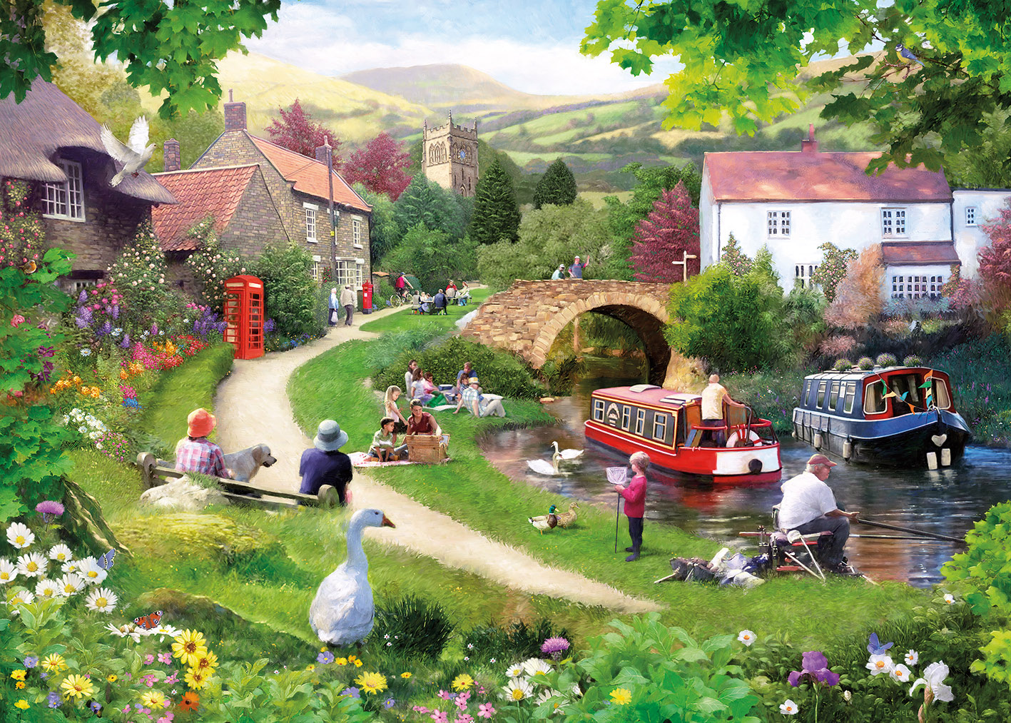 3aee5783aada Gibsons Life in the Slow Lane Jigsaw 1000-Piece Puzzle - The Gift ...