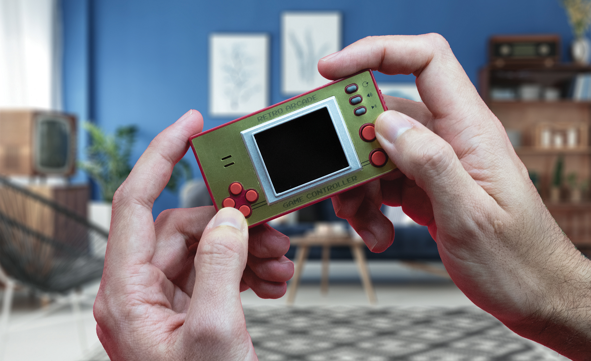 Retro 8-Bit Games Controller With Screen